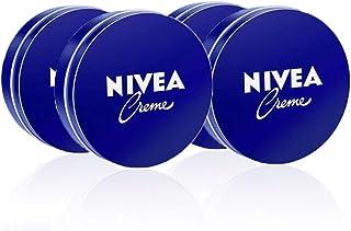 NIVEA Creme en pack de 4 (4 x 150 ml) crema hidratante de manos cara y cuerpo para toda la familia crema universal para...