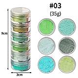 bhty235 resina epoxi color – 1 Set Perlglanz-Glimmerpulver-resina epoxi en Cosmética Calidad DIY Dye Pearl Pigment