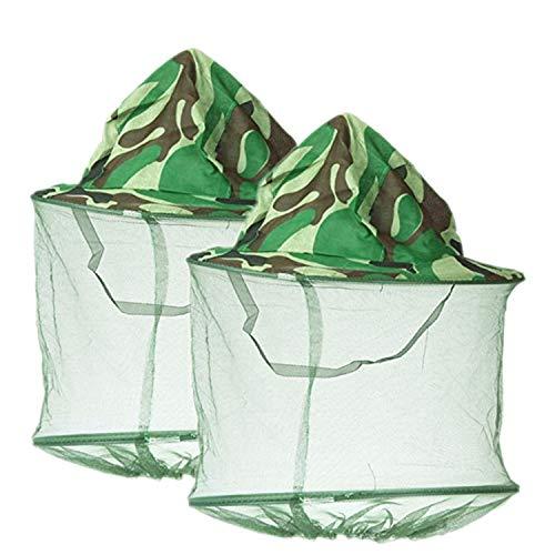 YouU 2 Pack Sonnenhut Fischerhut, Imkerhut, Camouflage, für den Außenbereich, Tarnmuster, Anti-Mücken, Anti-Insekten, Camping, Angeln, Hut mit Netz, Fliegenschutz
