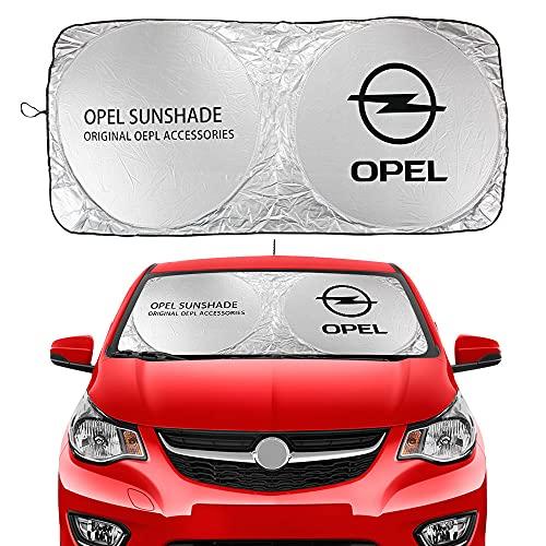 BAOBUM Sombrillas de coche compatibles con Opel Astra J H G Mokka Insignia Corsa OPC Vectra Mokka Meriva Tigra Zafira, cubiertas de parabrisas de coche, accesorios de coche plegables