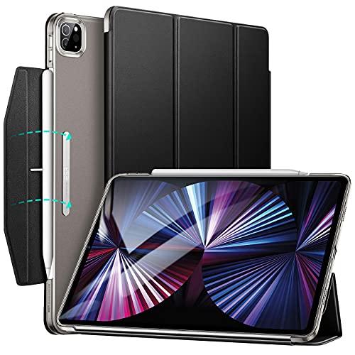 ESR Funda tríptica Compatible con iPad Pro 11 2021, Funda Ligera con Soporte, Modo automático de Reposo/Actividad, Carga inalámbrica para Pencil 2, Serie Ascend, Negro