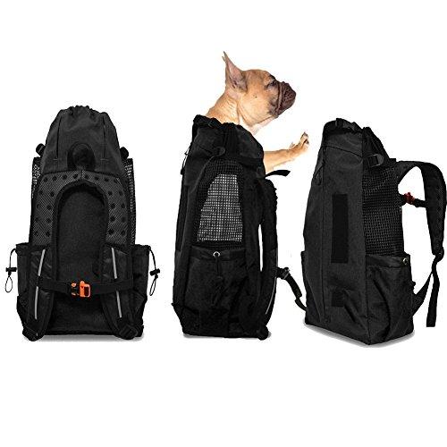 WLDOCA Confortevole Borsa per Cani Zaino per Cani E Gatti per Outdoor Escursione Pieghevole per Viaggio in Treno Trasportino per Animali Domestici,Black