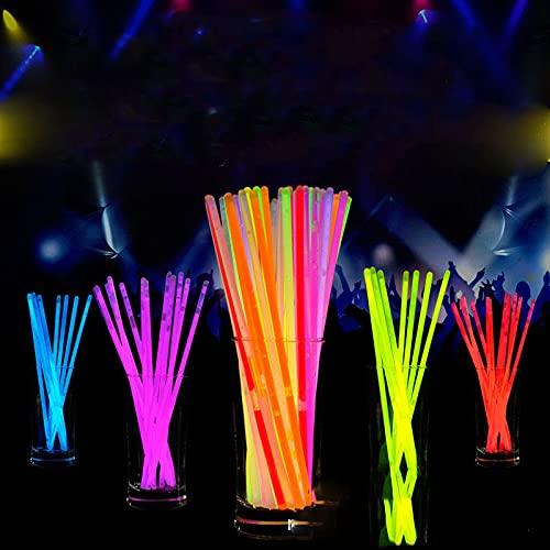Bolsa de fiesta con conectores, se puede utilizar para hacer pulseras de neón, collares, gafas y bolas para suministros de fiesta, multicolor para niños adultos luz oscura luminosa