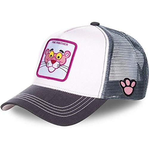 JJZZ Baseball cap Dragon Ball Baumwolle Baseball Kappe Männer Frauen Hip Hop Papa Mesh Hut Trucker Hut,Pink Panther