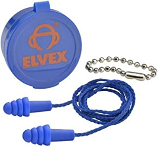 Elvex EP-412 Quattro™ NRR 27 Corded Ear Plugs-50 Pair