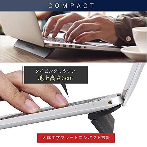 JOBSON™ ノートパソコン スタンド 折りたたみ / パソコン スタンド ( 収納 & 持ち運び ) ノートPC スタンド / パソコン台 macbook pro ( 13インチ対応 ) PC 放熱 冷却 軽量 JB003 [メーカー保証12カ月]
