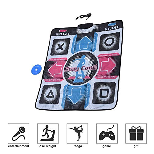 USB Dance Floor Mat, Electronic PC Non-Slip and Wear-Resistant Dancing Pad, for Kids/Adults/Family Home Entertainment