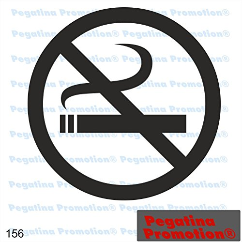 Piktogramm Typ 156 Icon Symbol Zeichen Nichtraucher Rauchverbot Rauchen verboten Aufkleber Sticker ca.15cm von Pegatina Promotion® Aufkleber mit Verklebehilfe von Pegatina Promotion® ohne Hintergrund geplottet