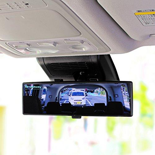 『ナポレックス 車用 ルームミラー Broadway ワイドミラー ブルー鏡 幅240㎜ 曲面鏡 高性能光学式防眩ミラー UVカット 汎用 BW-153』の9枚目の画像