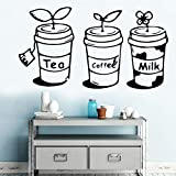 yaonuli Tea Coffee Milk Drink House Decoration Vinyl Sticker Kitchen decoration36X64cm