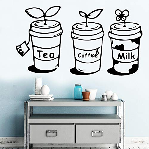 yaonuli Tee Kaffee Milch Getränk Hausdekoration Vinyl Aufkleber Küche Dekoration30X54cm