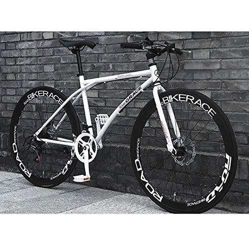 Suspensión de 26 pulgadas de acero al carbono de bicicletas de montaña 24 de velocidad de bicicletas MTB prima completa for hombres y mujeres carretera Frenos MTB de la bici con  engranajes de doble