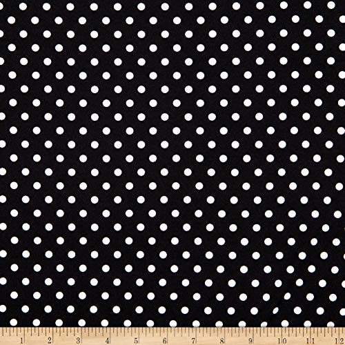 Fabtrends Dty Aspirin Dot Black White Fabric by the Yard