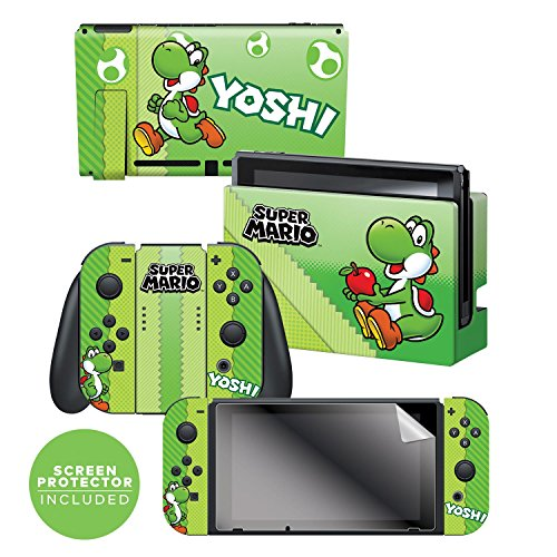 Controller Gear Nintendo Switch Skin & Screen Protector Set, Officially Licensed By Nintendo - Super Mario Evergreen