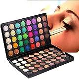 80 Colors Eyeshadow, CieKen Eye Shadow Matte Palette Cosmetic Makeup Pallet Shimmer Glitter Press Powder Professional Contour Neutral Shine Party Eyeshadow Set Kit (Black)