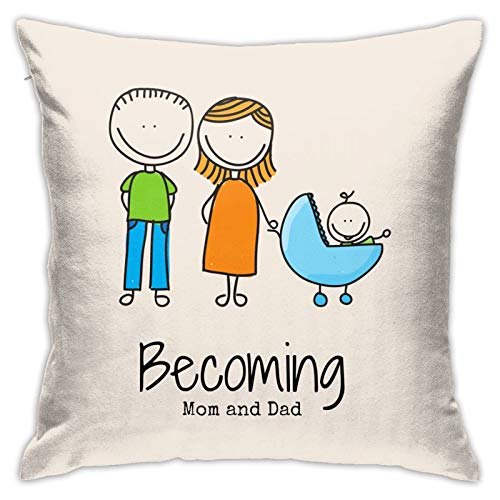 Relaxlama Mom Life is The Best Life Decorative Square Throw Pillow Covers for Sofa Home Bedroom Bed 18 x 18 Inch