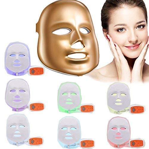 Xuehaostore Lichttherapie-masker met 7 kleuren, led-foto, verjonging, schoonheid, gezichtsverzorging, anti-rimpel, anti-acne schoonheidsmasker
