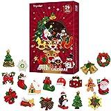 Toyvian Cuenta atrás de Navidad Calendario Calendario Linda advenimiento de la Navidad con 24pcs Colgantes de Navidad.