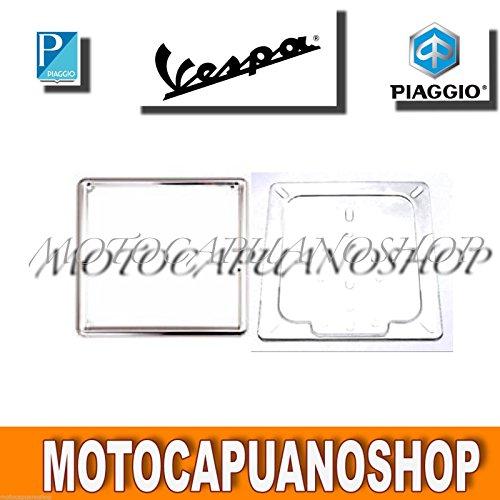CORNICE SUPPORTO TARGA PORTATARGA 18 X 18 VESPA 125 150 200 PX SPRINT