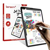 BERSEM[2 Pack]Paperfeel Screen Protector Compatible with iPad Pro 12.9 (2020 & 2018 Models Without Home Button),Compatible with iPad pro 12.9 Matte PET Film for Drawing Anti-Glare and Paperfeel