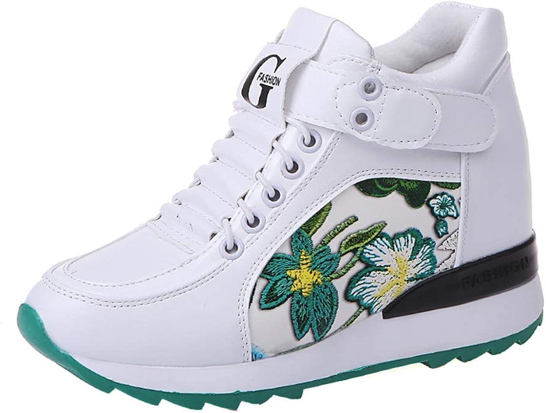 T-JULY Women Autumn Fashion Casual Wedge Pu Leather shoes Women Height Increasing Platform Sneakers