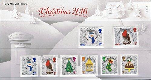 2016Weihnachtsbriefmarke in Präsentation Pack pp507(bedruckt Nr. 534)–Royal Mail Briefmarken