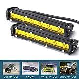 CICMOD 2 Pzs Faro LED Trabajo, 12V 24V 162W Focos LED Tractor de Luce Amarilla IP67 Impermeable per Off-Road SUV UTV ATV Camión Cuadrado