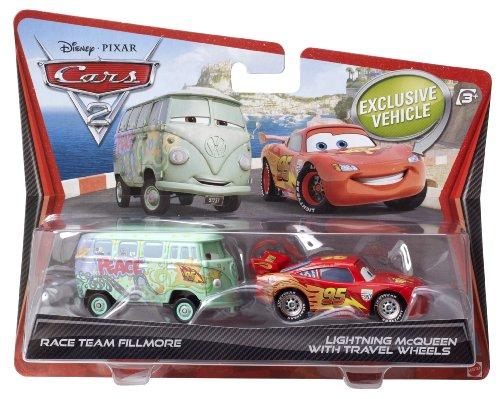 Cars - V2839 - Voiture Miniature - Cars 2 - Flash MC Queen & Equipe de Course Fillmore