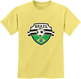 Tstars - Brazil Soccer Team Fans Youth Kids T-Shirt