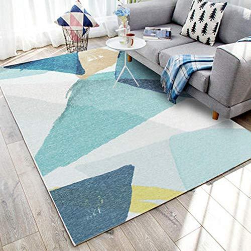 YQZS Teppich Schlafzimmer Teppich Orientteppich Tintengefärbtes himmelblaues Muster Couchtisch Teppich Schlafzimmer Teppich Wohnzimmer ,160X230(63X90inch)