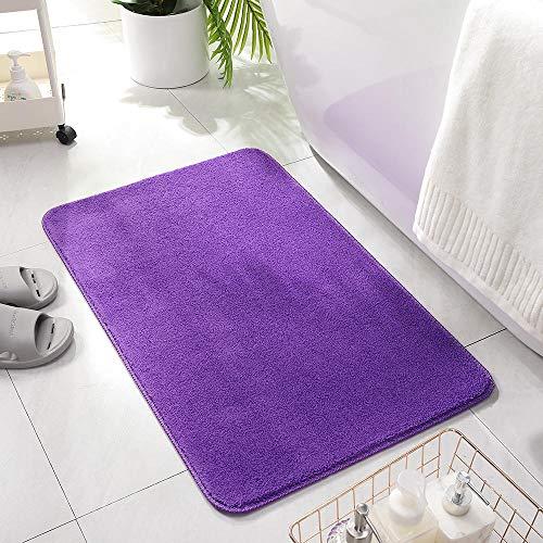 ZXCN Alfombrillas de Baño de Microfibra Buena Permeabilidad Al Aire Duradera Antideslizantes y Lavables Alfombra de Baño 50X120cm Violeta