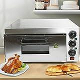 Horno de pizza de acero inoxidable con regulación de la temperatura, horno de pizza eléctrico para la cocina