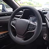 Lonfu Steering Wheel Cover Black - Massage Grip Silicone Steering Wheel Covers Anti-Slip Universal Car Steering Wheel Cover for Men Women Fits 14-15 Inches