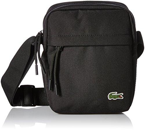 Lacoste Men's Neocroc Vertical Camera Bag, Black, One Size