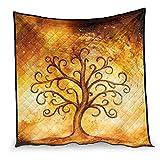 Dessionop Vintage vikingo árbol de la vida impresión día aire acondicionado regalo sofá sofá blanco 173 x 203 cm