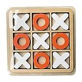 Leiyini-123 X-O Blocks Jeu de Table pour Enfants et Famille Jeux de société en Bois Voyage 3D du Salon Décor et Plateau de café Jeux de Table Décor Jeux de Famille Nuit Table Classique