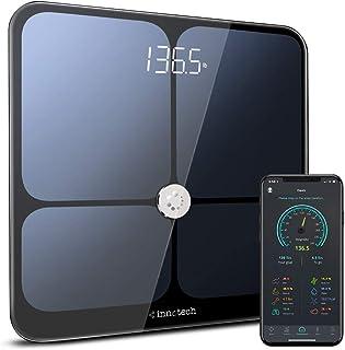 استاندارد Innotech هوشمند بلوتوث بدن چربی مقیاس وزن دیجیتال وزن توزین مقیاس ترکیب بدن تجزیه و تحلیل BMI و سلامت مانیتور با APP رایگان، سازگار با Fitbit، سلامت اپل و گوگل متناسب