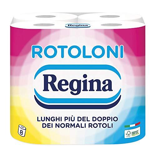 Regina Rotoloni Carta Igienica, 8 Maxi Rotoli
