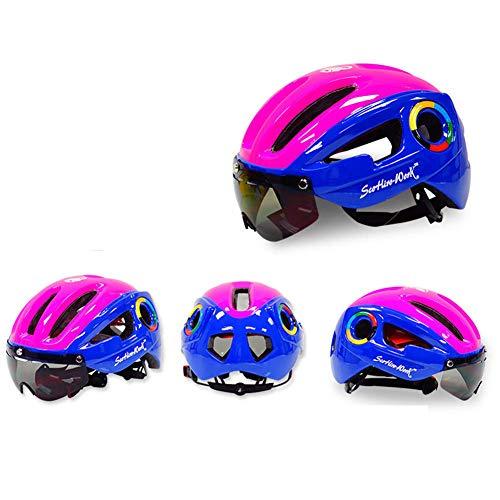 chenyu - Casco de Bicicleta Desmontable magnético Visera Gafas Ajustables Hombre Mujer...