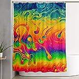 N/A For Dekorativer Badezimmervorhang Fantasy Farbe Neon Duschvorhang mit Haken Wasserdicht Badewannenvorhang 152,4 cm B x 182,9 cm H
