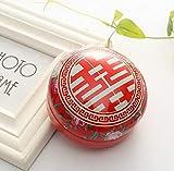 Caja Cajas de Regalo del Color: Rojo, romántico Día de San Valentín Caja del Caramelo de Caramelo insípida Ronda Joyero Bird Regalo de Asas de la Fiesta de jardín de Placas Festival de Suministros