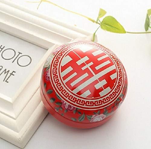 Artículos de Vacaciones MMGZ romántico día de San Valentín la Caja del Caramelo Redondo Plano de Caramelo Caja de joyería de Regalo Suministros Parte Festiva Bird Box Asas Home Garden, Color: Rojo La