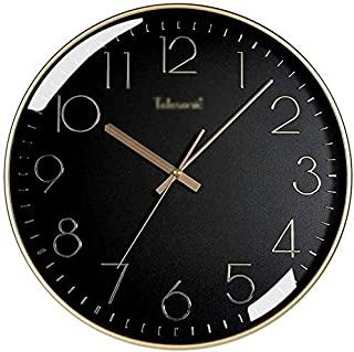 Kejing ساعة حائط زخرفية صامتة ساعة الحائط الكبيرة غرفة دراسة غرفة كتم ساعة الحائط الكلاسيكية البلاستيكية كوارتز ساعة سهلة ...