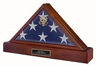 Triangle Flag Display Case - Memorial Flag Case Pedestal Combination is a Beautiful Way to memorialize Your Loved one who Served The Armed Forces.