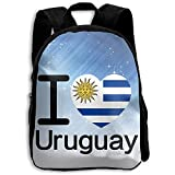 Yuanmeiju Bookbag The Children's I Love Uruguay Flag Backpack
