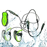 Kangdu88 Waterproof MP3 Music Player, Underwater Player Headphones Swimming Clip Underwater Mp3 Headphones
