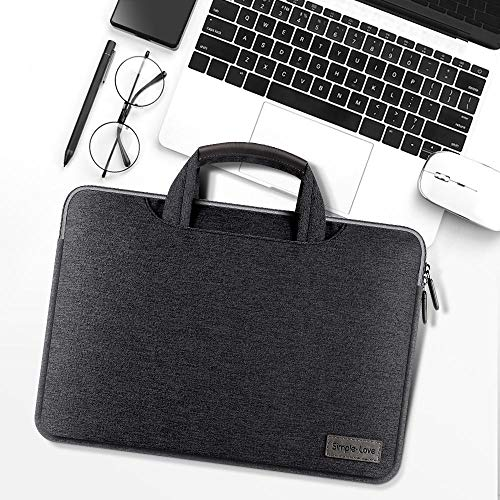 KOLIU Laptop Sleeve Case 14/15./15.6 Inch Notebook Travel Carrying Bag Waterproof Protective Cover For Macbook Air Pro 13 15 (Color : Black, Size : 13-14 inch)