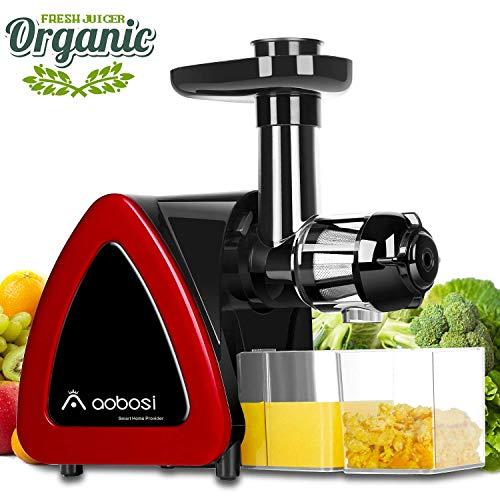 Extracteur de Jus,Aobosi Sans BPA Extracteur à Jus avec Fonction Reverse,Moteur Silencieux Pour Nutritif Jus de Fruits et Légumes