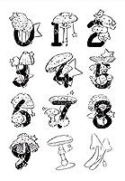 番号透明クリアシリコンスタンプシールDIYスクラップブッキングフォトアルバム装飾B091