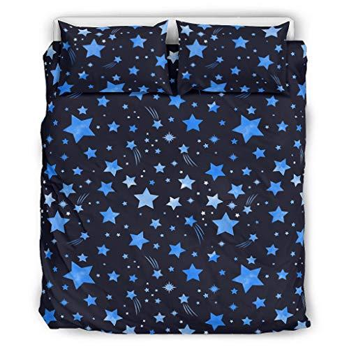 Bohohobo Star Moon Magic Juego de colcha resistente a las arrugas y a la decoloración, juego de ropa de cama más suave calidad de hotel para dormitorio blanco 167,6 x 228,6 cm
